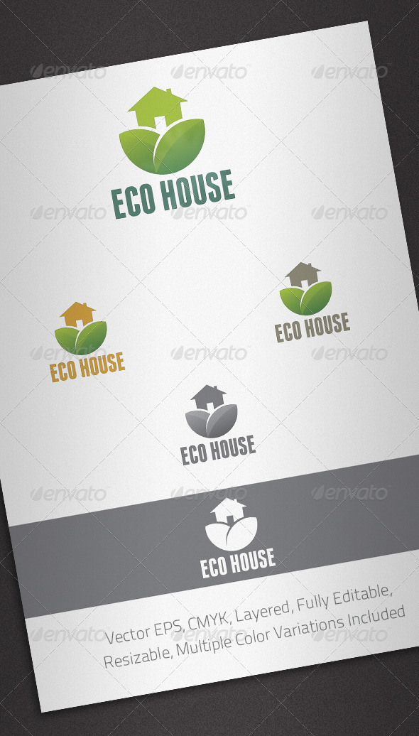 Eco House Logo Template - Buildings Logo Templates