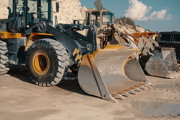 Heavy machinery in quarry - Stock Photo - Images