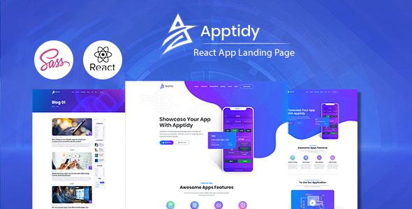 Apptidy - React App Landing Page by ir-tech