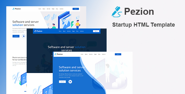 Pezion - Startup & Agency HTML Template by Rocks_theme