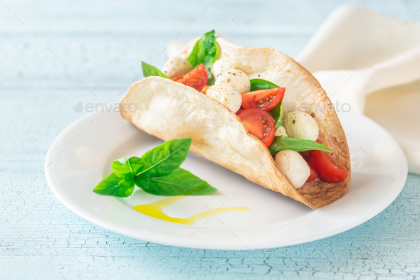 Caprese taco - Stock Photo - Images