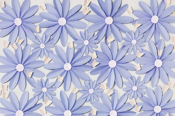 Flowers background photo wall - Stock Photo - Images