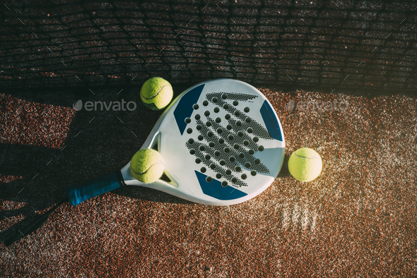 Padel blade racket on the floor - Stock Photo - Images