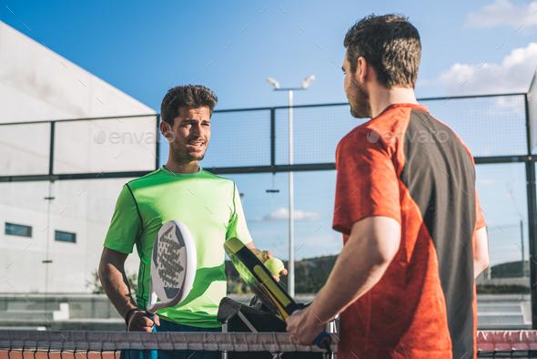 Monitor teaching padel class - Stock Photo - Images