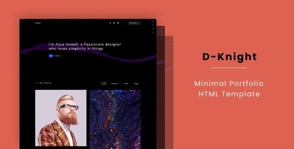 D-Knight - Minimal Portfolio HTML Template by beingeorge