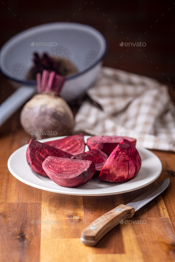Sliced tasty raw beetroot. - Stock Photo - Images