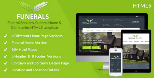 Funeral Services & Cemeteries HTML5