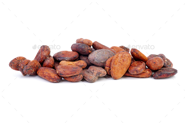 Small pile of cacao beans - Stock Photo - Images