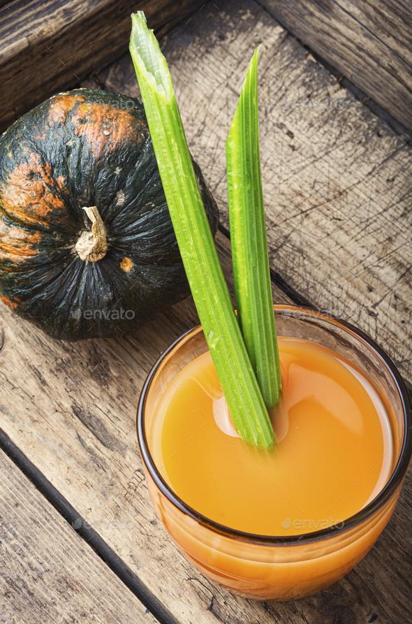 Fresh pumpkin juice - Stock Photo - Images