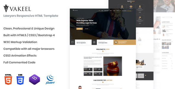 Vakeel - Lawyer HTML Template