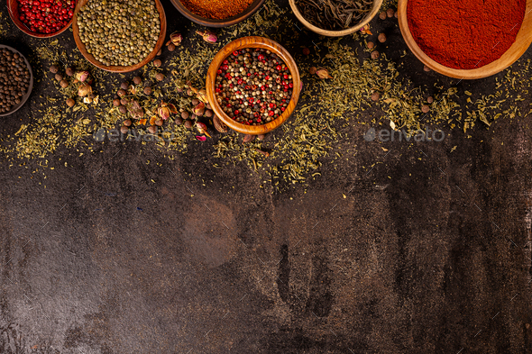 Set of spices and herbs - Stock Photo - Images