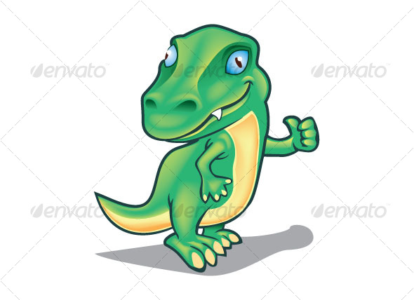 green dino - Animals Characters