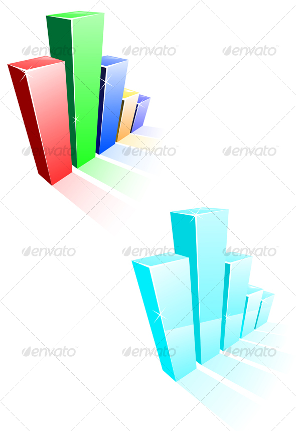 Glossy graph for design - Business Conceptual