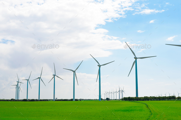 Wind mill farm - Stock Photo - Images