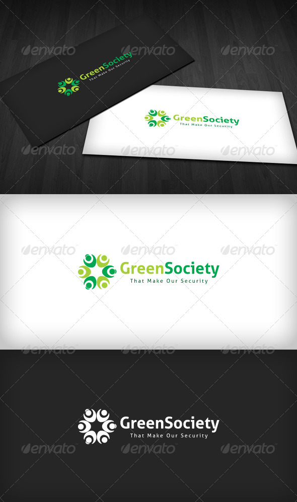 Green Society Logo - Humans Logo Templates