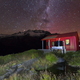 Stars and the Milky Way Galaxy Over Liverpool Hut in New Zealand - PhotoDune Item for Sale