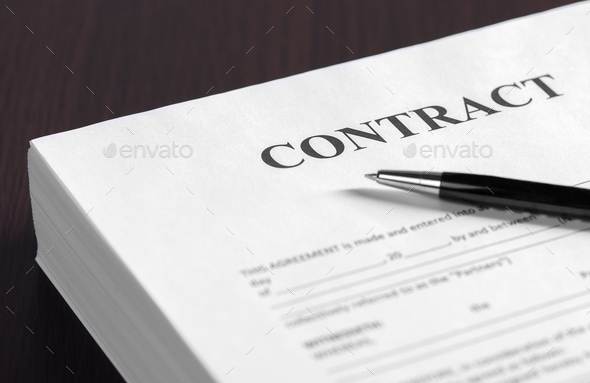 The contract on desktop - Stock Photo - Images