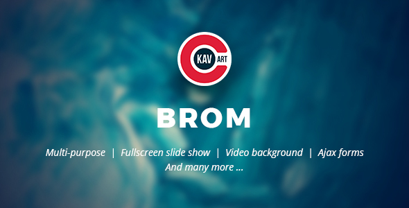 Brom - HTML Creative Page by C-Kav