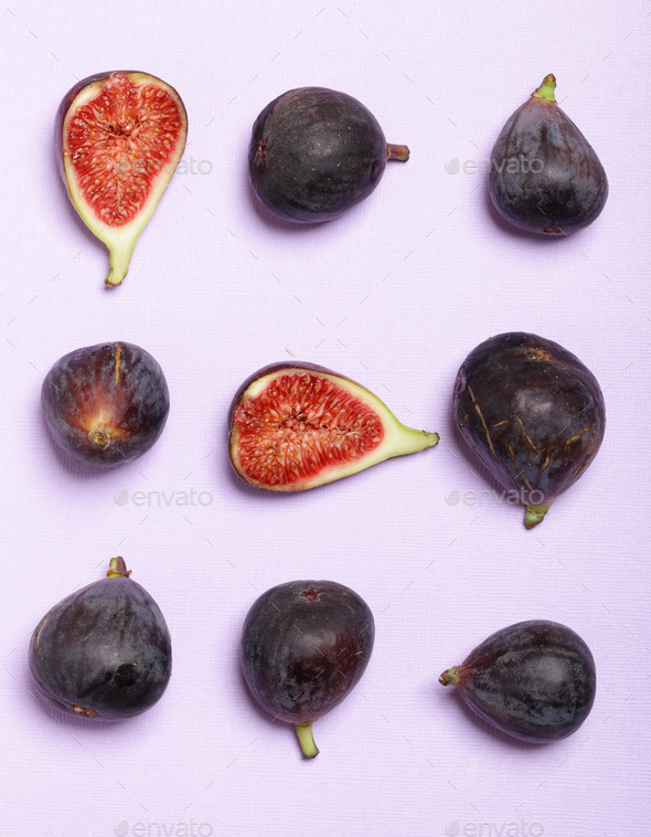 Organic Purple Figs - Stock Photo - Images