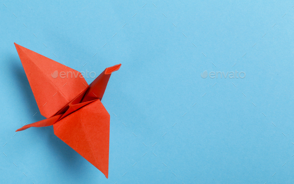 Origami Paper Crane - Stock Photo - Images