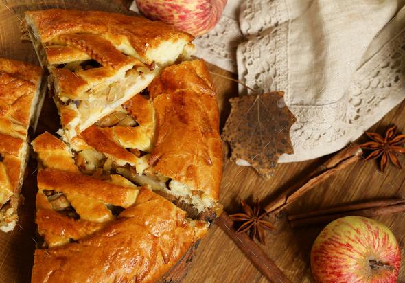 Homemade Apple Pie - Stock Photo - Images