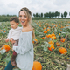 Mother and Daughter in a Pumpkin Patch - PhotoDune Item for Sale