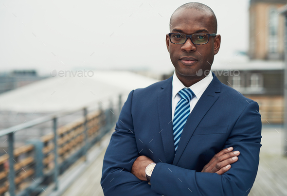 Confident black business man - Stock Photo - Images