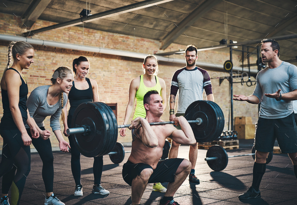 Support makes lifting easier - Stock Photo - Images