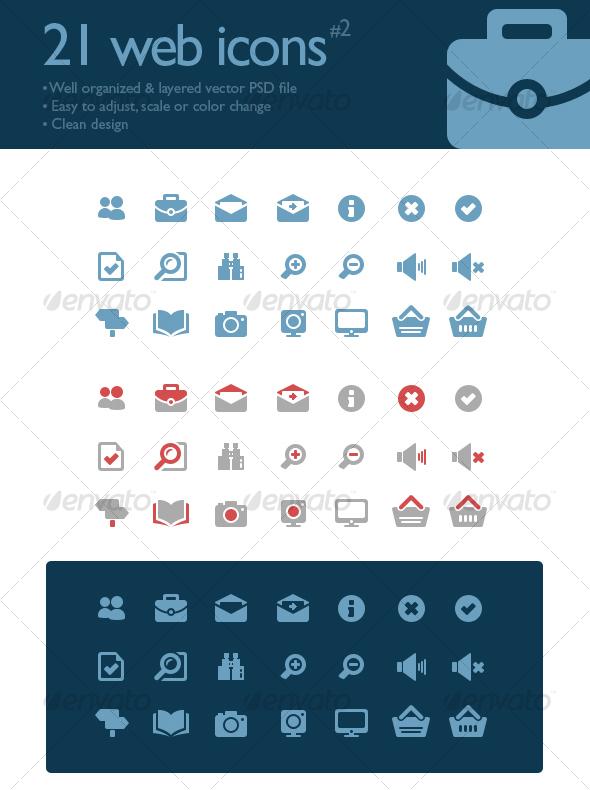 21 web icons #2 - Web Icons