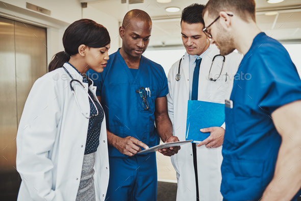 Medical team having a meeting - Stock Photo - Images