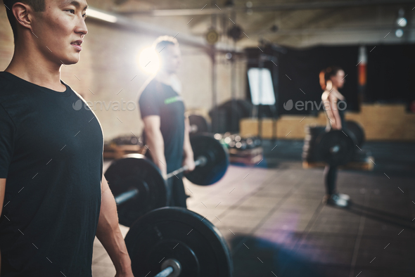 Weightlifting is key to getting stronger - Stock Photo - Images