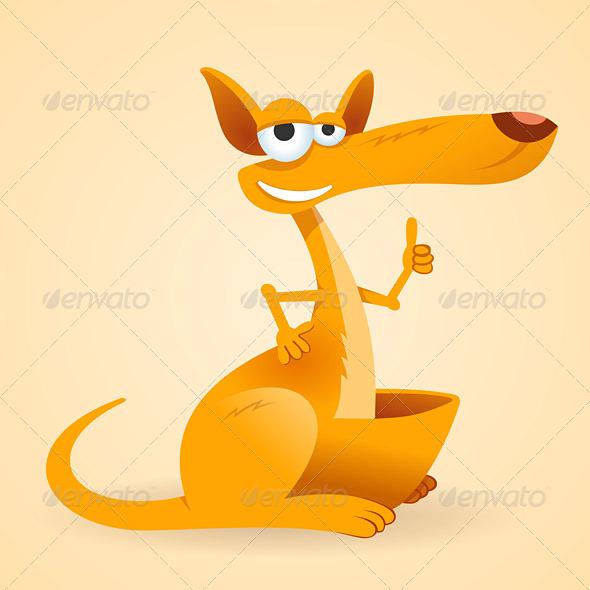 Kangaroo Animal Illustration - Animals Characters