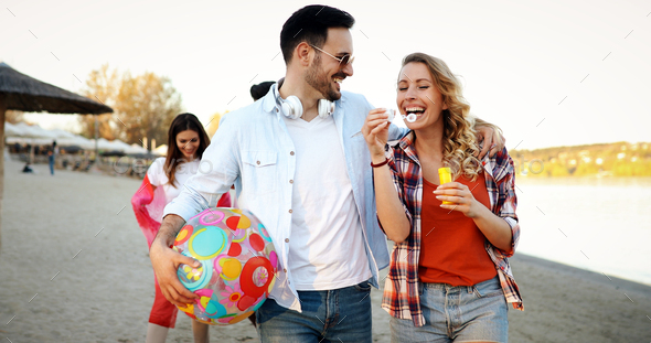 summer, holidays, vacation and happiness concept - Stock Photo - Images
