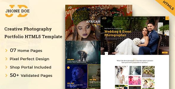 Jhone Doe HTML5 Photography Template