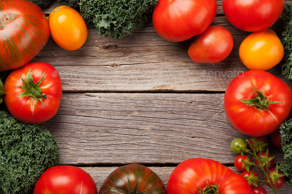 Fresh garden tomatoes - Stock Photo - Images