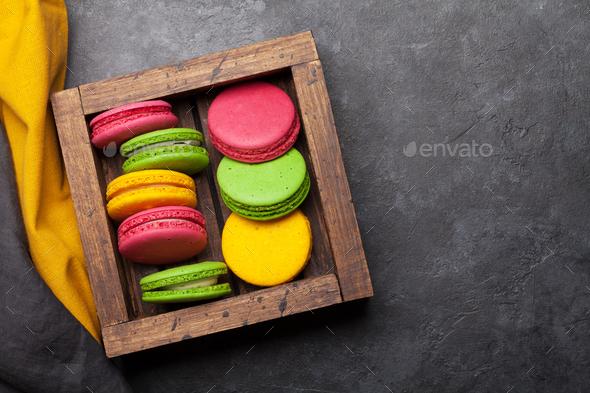 Cake macaron or macaroon sweets - Stock Photo - Images