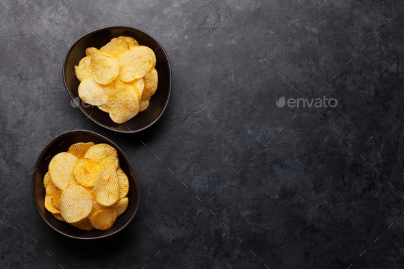 Beer snacks. Potato chips - Stock Photo - Images