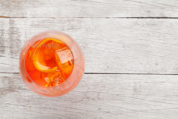 Aperol spritz cocktail - Stock Photo - Images