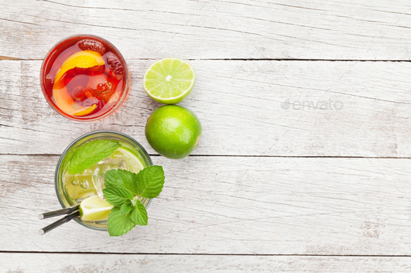 Two cocktail glasses - Stock Photo - Images