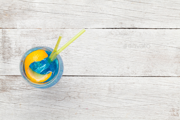Blue lagoon cocktail - Stock Photo - Images
