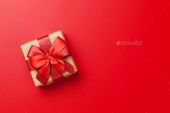 Christmas or Valentine's day gift box - Stock Photo - Images