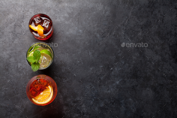 Three cocktail glasses - Stock Photo - Images