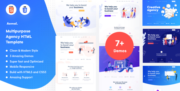 Aemal - Creative Agency Template by QuomodoTheme