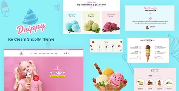 Drippy – Cake Shop, Ice Cream Store Shopify Theme