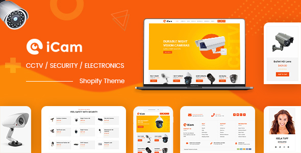 iCam | CCTV, Electronics Industry Shopify Theme