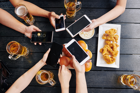 Online connecting during meeting - Stock Photo - Images