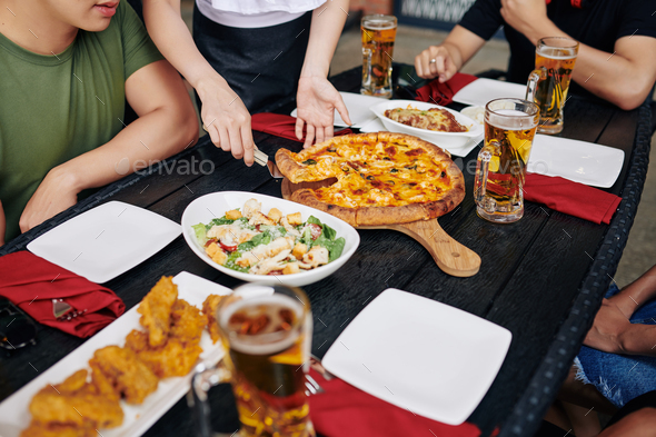 People have lunch in cafe - Stock Photo - Images