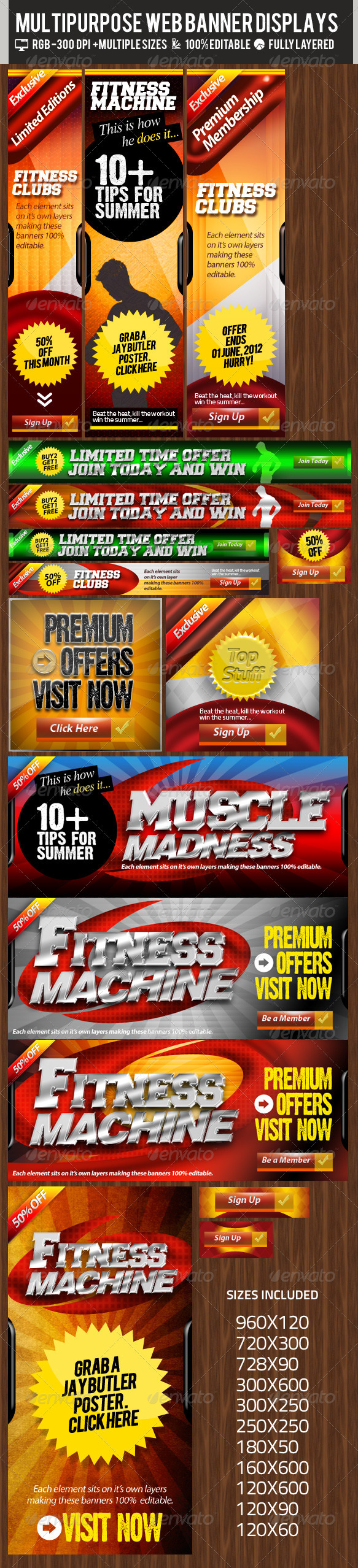 Multipurpose Web Banner & Ad Kit - PSD Templates - Banners & Ads Web Elements