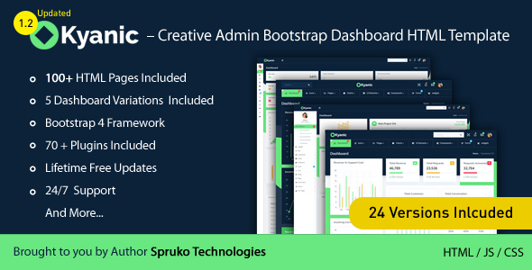 Kyanic – Creative Admin Multipurpose Responsive Bootstrap Dashboard HTML Template
