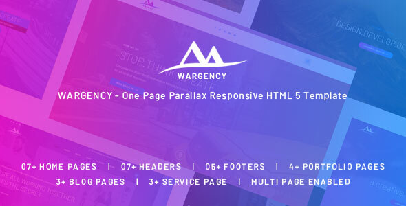 Exceptional Wargency – Onepage Creative Agency Responsive HTML5 Template